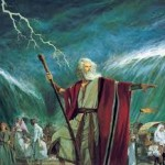 Moses parting sea